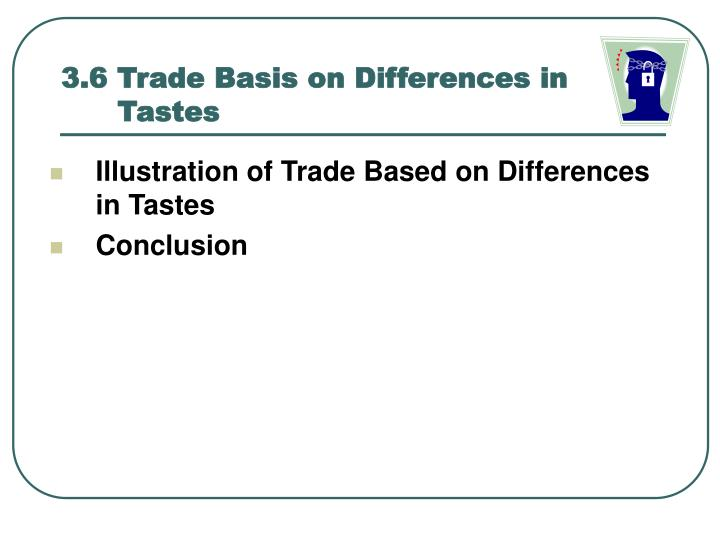 3.6 Trade Basis on Differences in