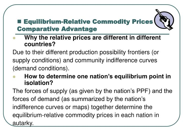 Equilibrium-Relative Commodity Prices and Comparative Advantage