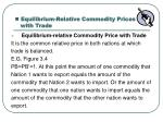 equilibrium relative commodity prices with trade