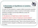 illustration of equilibrium in isolation