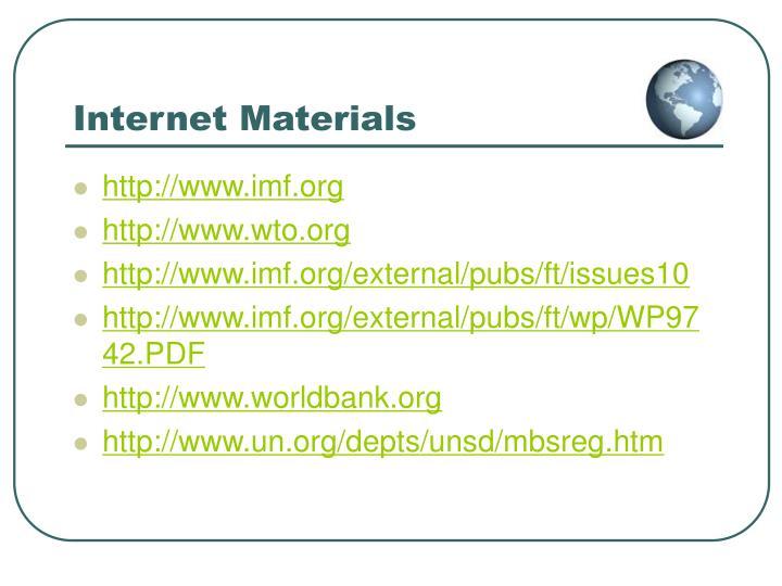 Internet Materials