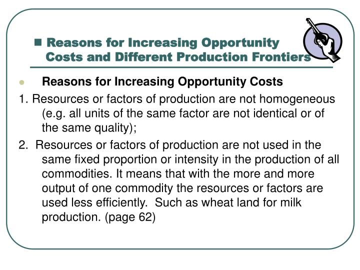Reasons for Increasing Opportunity