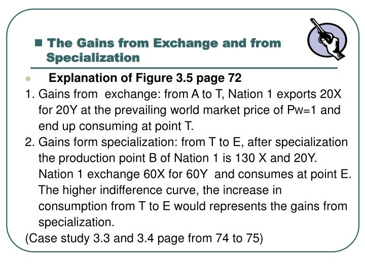 The Gains from Exchange and from