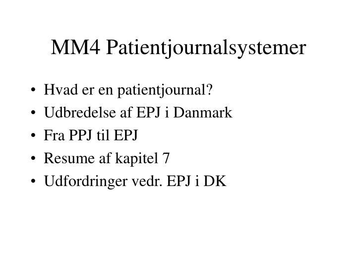 MM4 Patientjournalsystemer