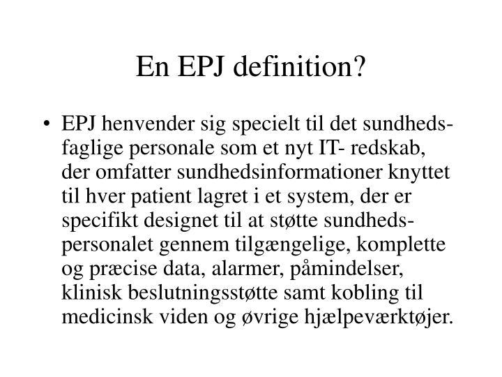 En EPJ definition?