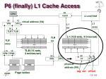 p6 finally l1 cache access