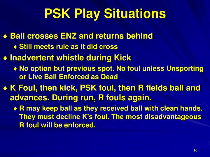 PSK Play Situations