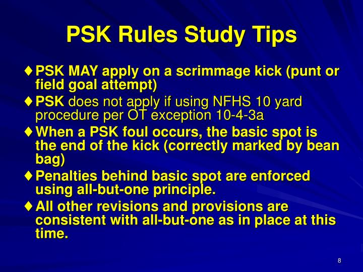 PSK Rules Study Tips