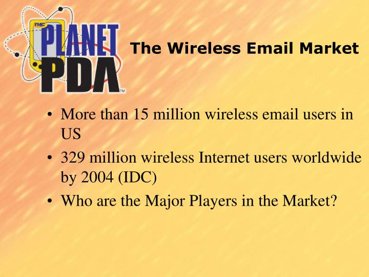 The Wireless Email Market
