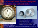 lunar and mars rovers designed for loose dry soil and rocks1