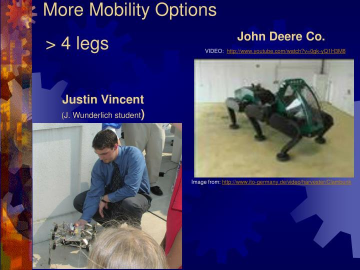 More Mobility Options