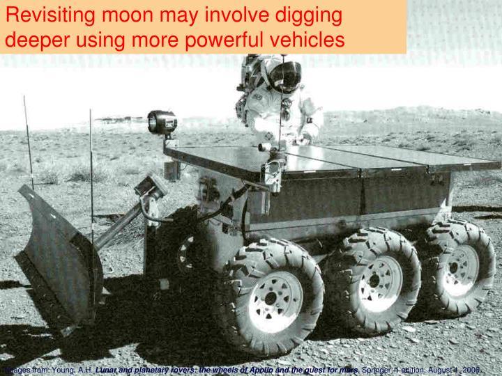 Revisiting moon may involve digging deeper using more powerful vehicles