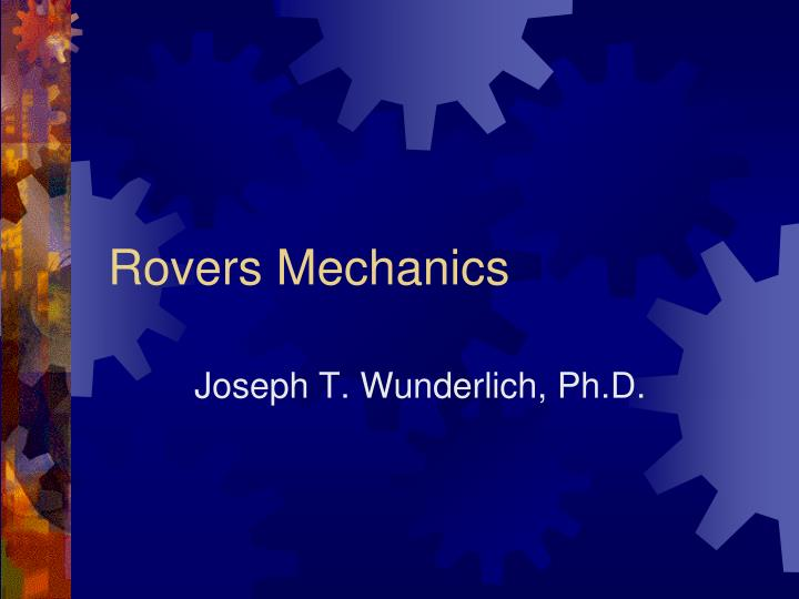 rovers mechanics