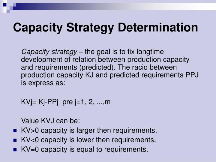 Capacity Strategy Determination