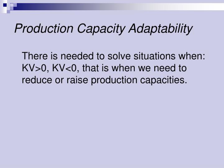 Production Capacity Adaptability