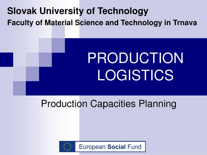production logistics