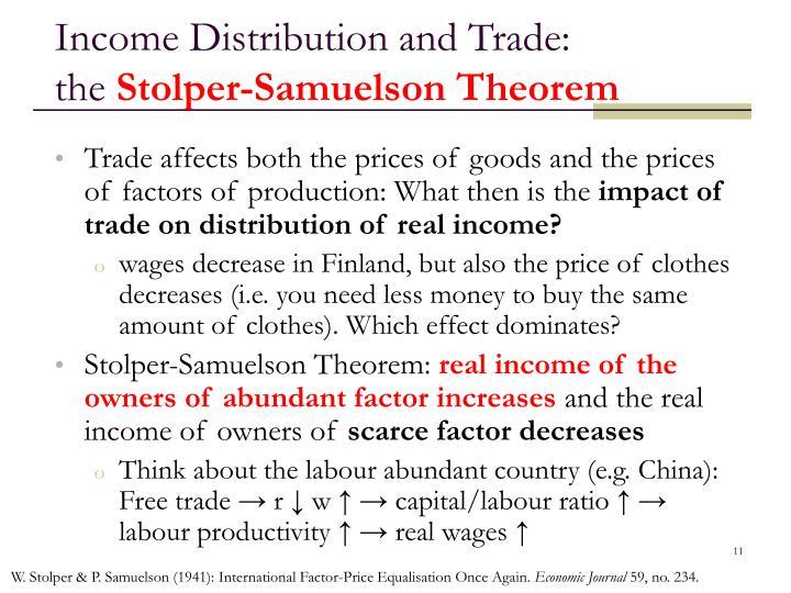 Income Distribution and Trade: