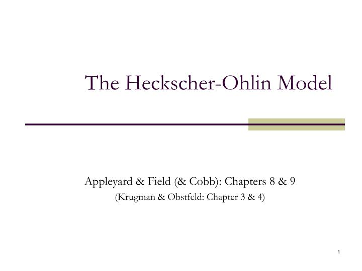 the heckscher ohlin model
