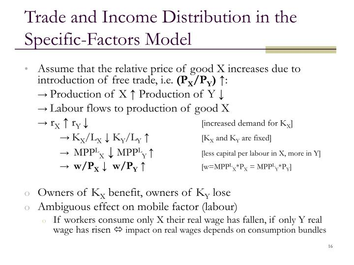 Trade and Income Distribution in the Specific-Factors Model