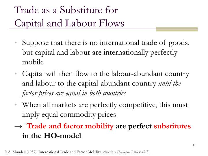 Trade as a Substitute for