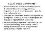 seca s initial comments