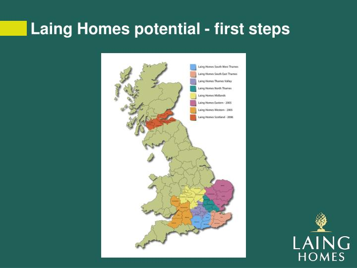 Laing Homes potential - first steps
