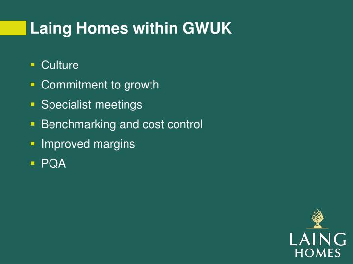 Laing Homes within GWUK
