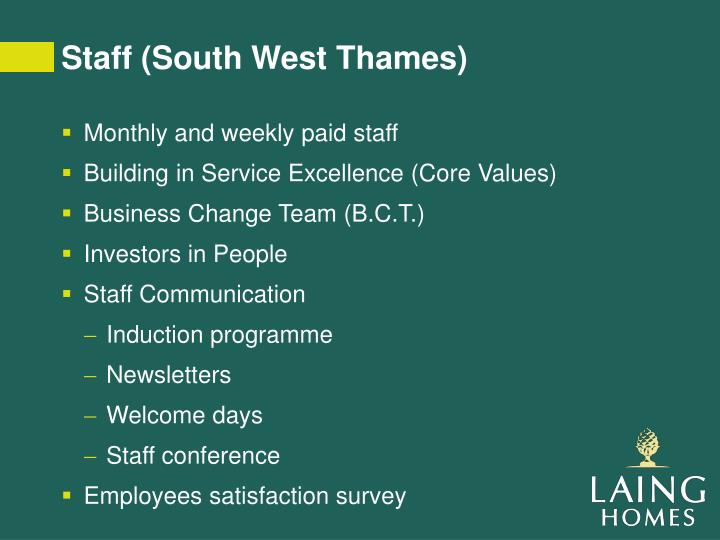 Staff (South West Thames)