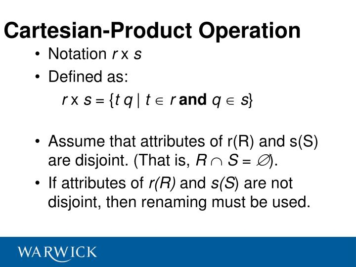 Cartesian-Product Operation
