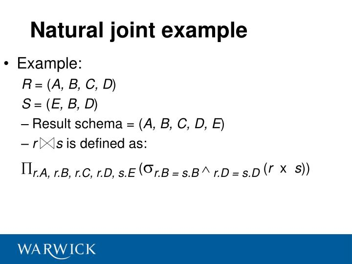 Natural joint example