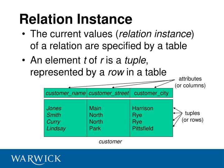 Relation Instance