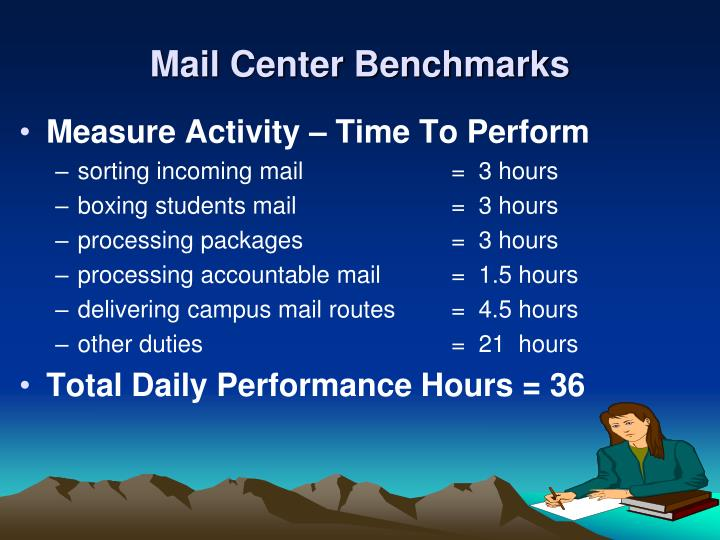 Mail Center Benchmarks