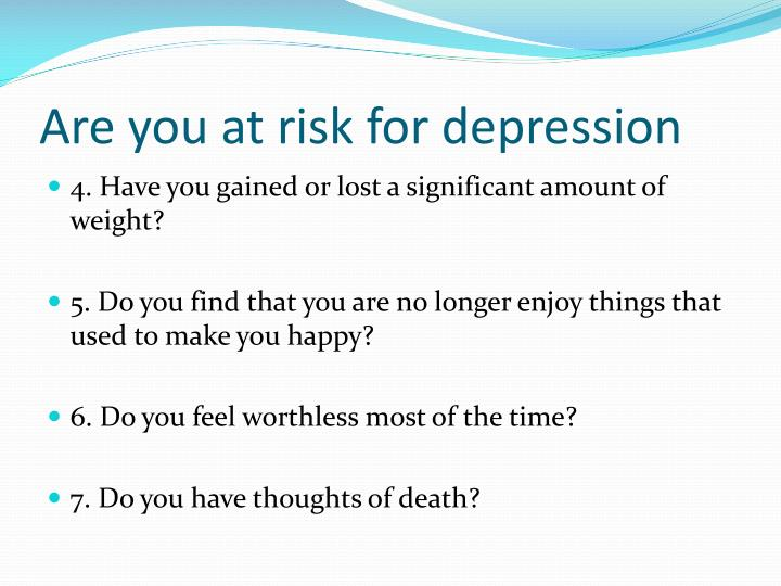 Are you at risk for depression