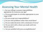 assessing your mental health1