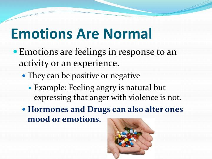 Emotions Are Normal