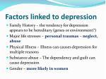 factors linked to depression