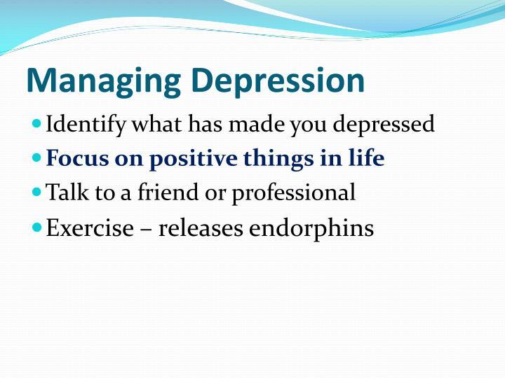 Managing Depression
