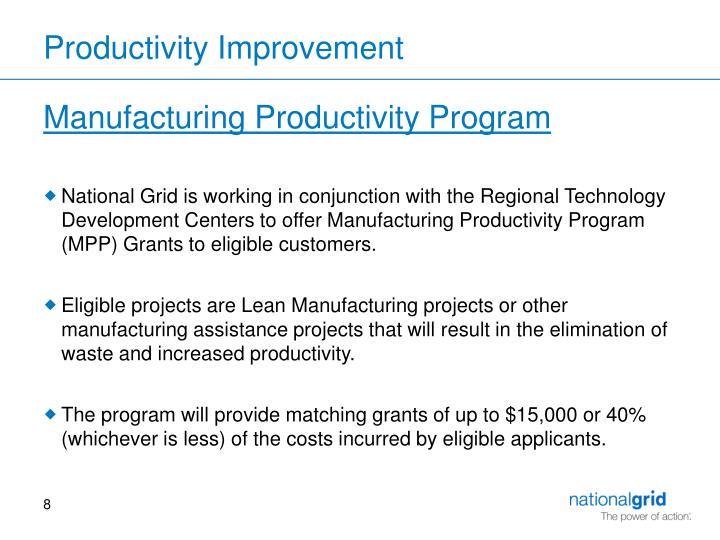 Productivity Improvement