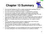 chapter 13 summary