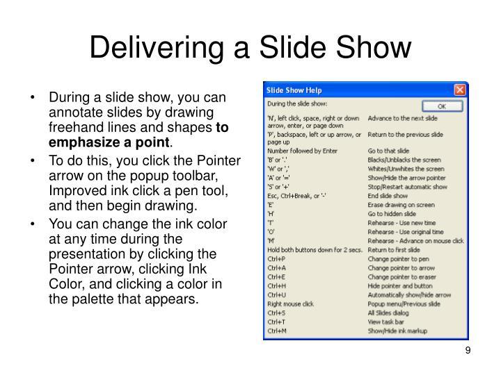 Delivering a Slide Show