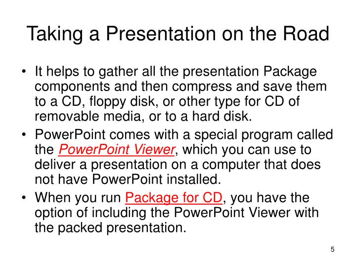 Taking a Presentation on the Road