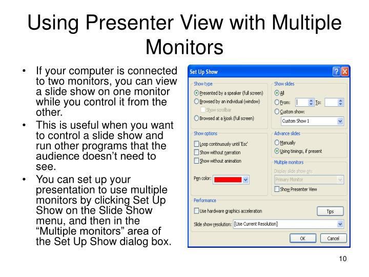 Using Presenter View with Multiple Monitors