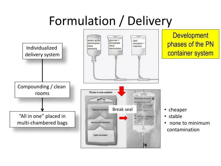 Formulation / Delivery