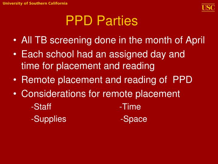 PPD Parties