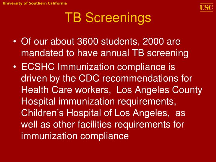TB Screenings