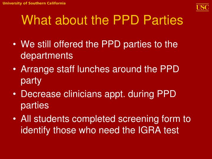 What about the PPD Parties