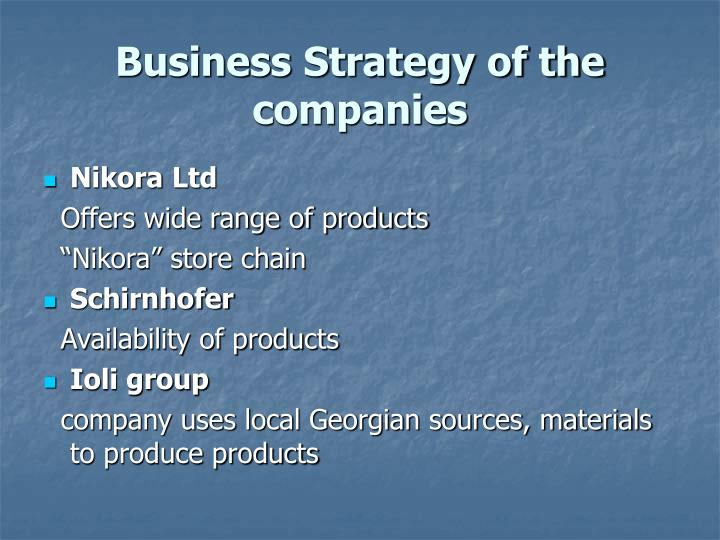 Business Strategy of the companies