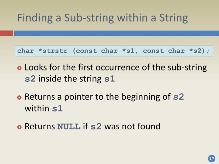 Finding a Sub-string within a String