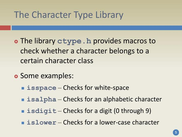 The Character Type Library