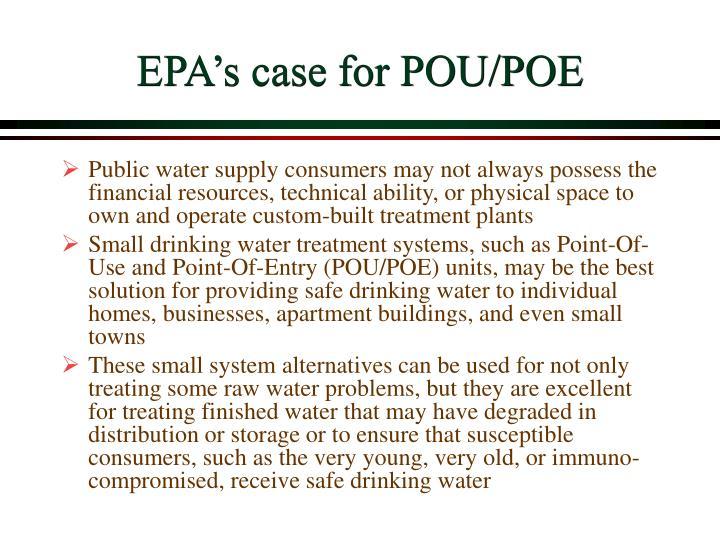 EPA's case for POU/POE